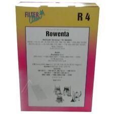 4 sacs aspirateur papier Filterclean 00011-K R4 pour Rowenta, Bosch, Fakir...