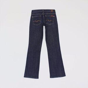7 For All Mankind Womens 26w 31L Reg Leg Bootcut Blue Jeans