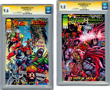 SPAWN/WILDCATS #1-2 CGC-SS 9.6-9.8 ALAN MOORE STORY *SIGNED TODD MCFARLANE* 1996