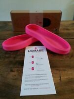 New Nordstrom Homage Boot Wraps/Covers Peacock Print Pink Sz 6-Free Ship!-1 Pair