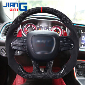 Customized Forged Carbon Fiber Steering Wheel Fit For Challenger Charger SRT