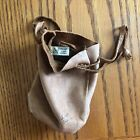 "Brama Genuine Deerskin Drawstring Pouch Bag Soft Canada Brown Leather 6"" x 4"""