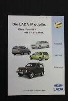 altes Prospekt Werbung Lada Niva 4x4 Kalina Priora Sammler old vintage retro