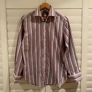 TED BAKER Men's Size 39 15 1/2 Shirt Strip Casual Business Long Sleeve Button Up