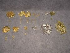 LOT 331 Pcs Keychain Clips Clasps Hooks Rings Jewelry Crafts Gold/Silver Tone