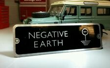 Land Rover Series 2a 101 12v Front Panel Negative Earth Information Plate 598702