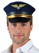 Kapitän Roger Piloten Mütze NEU - Karneval Fasching Hut Mütze Kopfbedeckung