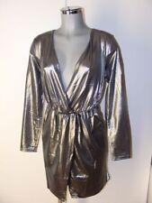 Kleid in Silber Metallic Gr 40 42 Marke Rainbow