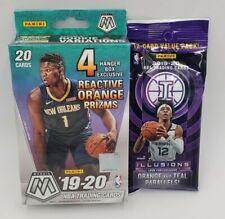 2019-20 Panini Mosaic and Illusion NBA Basketball Hanger Box and Fat Pack Sealed