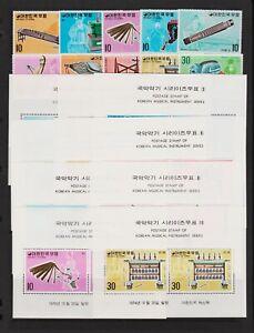 Korea - 1974 Musical Instruments set, cat. $ 59.15