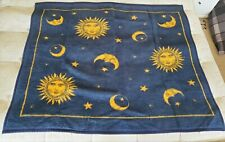 Vintage Biederlack Celestial Sun Moon Stars Reversible Blanket Throw 58x47