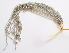 Wholesale Lot of 25 Silver Tone Ball Chain Necklaces, 24 Inches