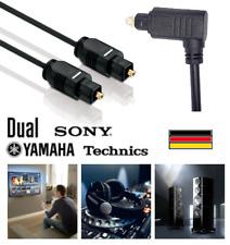 Optisches Audiokabel 1 Meter Toslink digital LWL Stecker 2,2mm S/PDIF, schwarz
