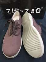 Zig Zag Wino Shoes-Brown Lace-Up * Tan Sole