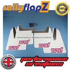 rallyflapZ SUBARU IMPREZA New Age Blobeye(01-07)Mud Flaps White STi Pink 4mm PVC