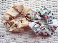 Donkey & Horse Hair Scrunchies Tie Band Elastic Scrunchy Band Horses Pony Gift