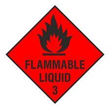 1x FLAMMABLE LIQUID Danger Vinyl Sticker Decal for Door Shop Store Work Home Car