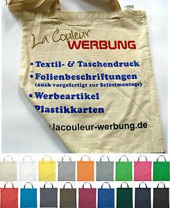 250 Baumwolltasche 38 x 42 cm mit Druck Logo Werbung 2-seitig/1-farbig