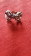 Ladies costume jewellery bow tie ring