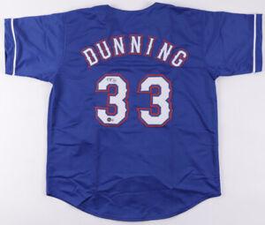 2021 - Present Texas Rangers Pitcher Dane Dunning Signed Baseball Jersey Beckett