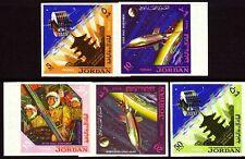 Jordanien Jordan 1965 ** Mi.541/45 B Weltraum Space Astronauten Astronauts