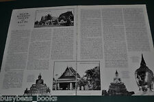 1982 magazine article about BUDDHIST IMAGES at WAT PO, Thailand, sculptures