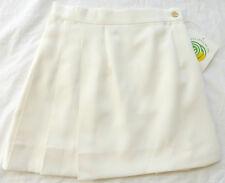 CYCLE BOSTON Pleated Tennis Golf Running Kilt Skirt #301, Cream, Size Large, NWT