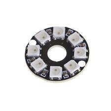 8-Bit WS2812 5050 RGB LED Lamp Panel Round Ring LED Driver Development BoardSTDE