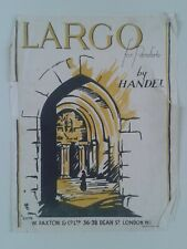 LARGO FOR PIANOFORTE BY HANDEL