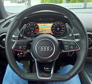 Audi TT TTS 8S FV A5 F5 A4 B9 8W Q7 4M Alu DSG Schaltwippen Verlängerung Schwarz