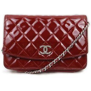 Chanel Shoulder Bag  Reds Enamel 1512377