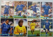CHELSEA TOPPS STADIUM CLUB 1992 FOOTBALL CARDS x 8 Stamford Bridge