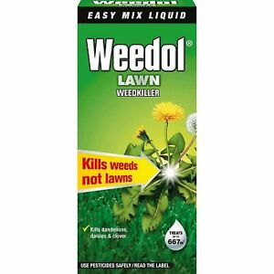 Weedol Lawn Weedkiller (Was VERDONE) Kills Weeds Not Grass 1L Concentrate