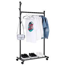 Kleiderständer Wäscheständer Garderobenständer mit Rollen Regal 174 cm HSR06B