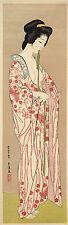 Japanese Art Print: Woman Dressing, H.Goyo - Fine Art Reproduction
