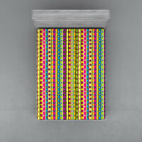 Stripes Fitted Sheet Cover with All-Round Elastic Pocket in 4 Sizes