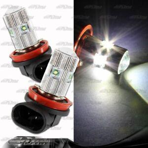 1x Pair Audi Acura Buick Cadillac BMW H11 25 Watt 5 LED White Projector Bulbs
