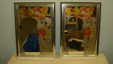 Pair of 70's Turner wall accessory matching mirrors #68910 Fern & Flowers VGC