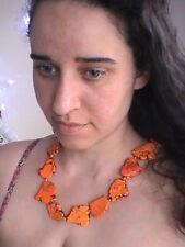 Native American necklace orange turquoise BLESSED rare desert sunset