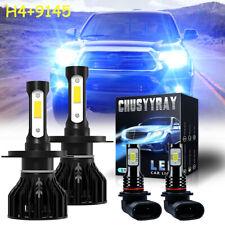 For Toyota Tacoma 2005-2011 - 4X Combo 8000K LED Headlight + Fog Light Bulbs Kit