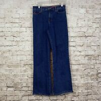 NYDJ 10P Petite Jeans Tummy Tuck Dark Wash Blue Denim Cotton Stretch