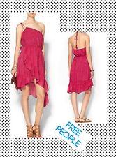 FREE PEOPLE NEW Safari Mango Ruffled Boho Beaded Halter Dress NWT M 8-10 $148