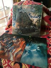 BLUE OYSTER CULT VINYL on your feet LP x2 BAND AUTOGRAPH w Reaper 45 LIVE 1975