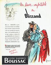 Publicité Advertising 107  1955  imperméable homme femme enfant Blizzand Boussac