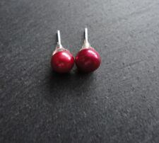 Ohrstecker Perlen 5.6mm rot