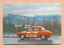 RENAULT DAUPHINE - TEST DE CONSOMMATION PARIS / LYON / GRENOBLE - 1960 -