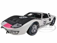 1966 FORD GT-40 MK 2 WHITE #98 DIECAST CAR MODEL 1/18 SHELBY COLLECTIBLES SC415