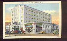Linen Postcard Dixie Hunt Hotel Gainesville GA Nice Old Cars A7256