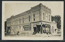 MN Delavan RPPC c.1908 KRAUSE BROTHERS GENERAL STORE Milk Wagon STREET Bank No.3