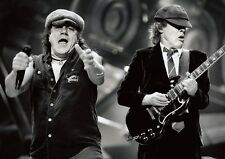ACDC Brian and Angus Rock BW Poster